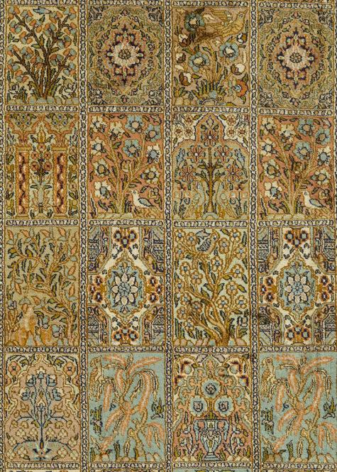 Arabesque Shalimar-Hamadan   Carpets of Kashmir