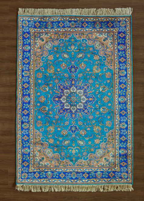 Blue Jewel Ispahan | Carpets of Kashmir