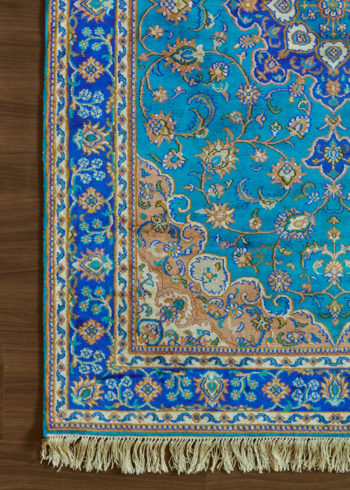 Blue Jewel Ispahan | Carpets of Kashmir
