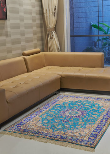 6 by 4 pure silk oriental coffee-table carpet