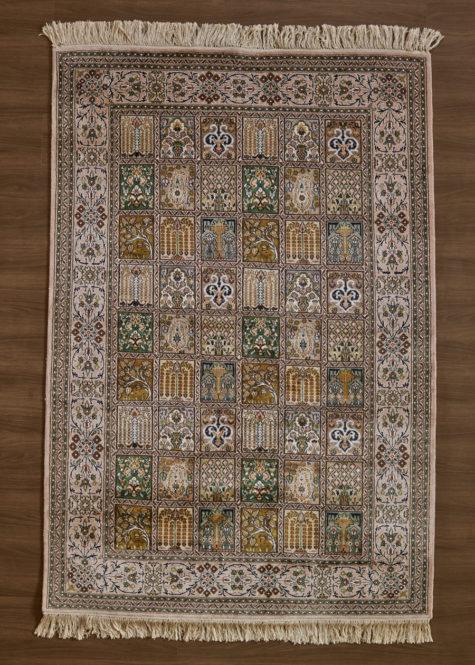 Crystal Pink Qum | Carpets of Kashmir