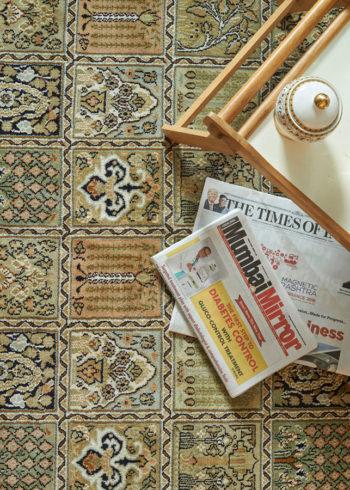 Dusty Coral Qum | Carpets of Kashmir