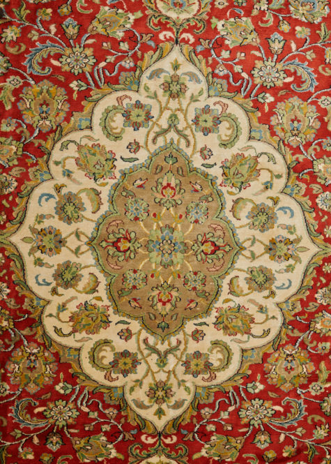 Red Clay Mashad | Carpets of Kashmir