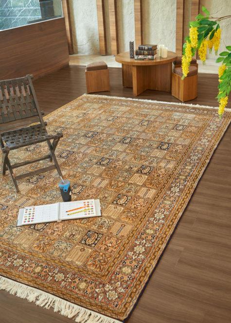 Royal Blue Qum | Carpets of Kashmir