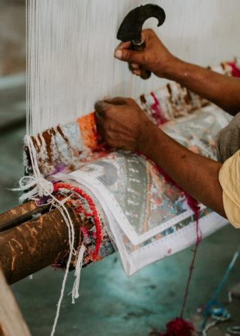 Custom order carpet making