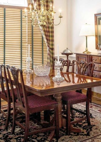 Pure wool oriental carpet for dining room