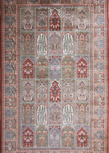 9 by 6 Wool Silk Rug for Living Room
