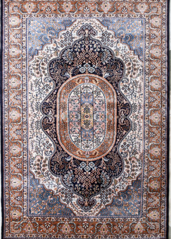 7 by 5 Wool Silk Kashmir Coffee Table Carpet