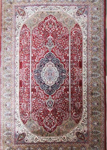 Wool Silk Rug for Living And Dining Room