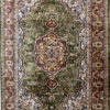 Floral design coffee table rug