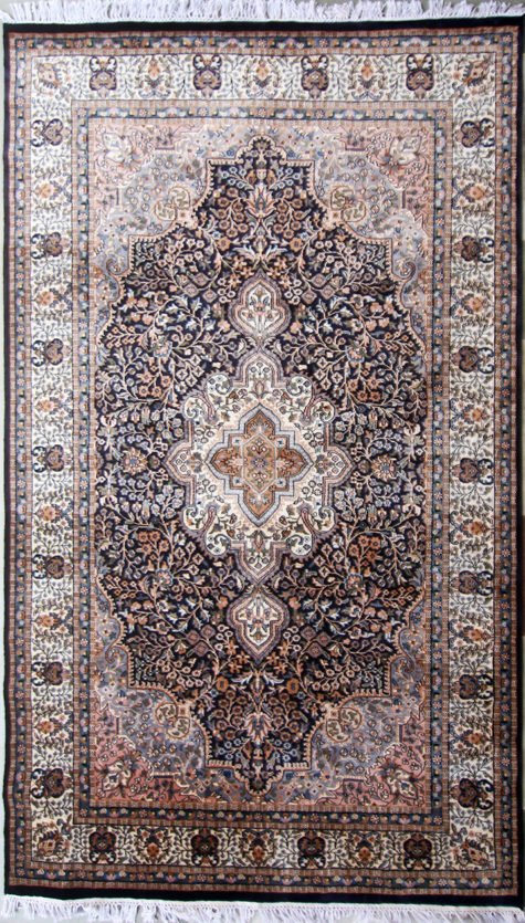 Wool silk dining room carpet