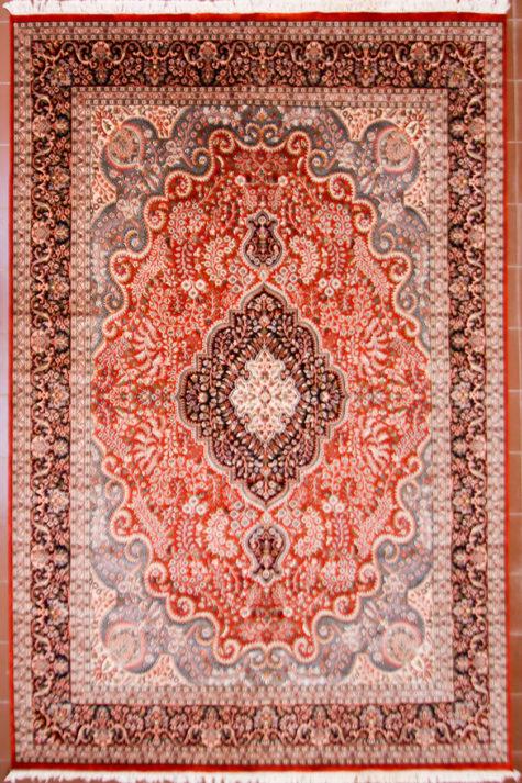 Hamdmade wool silk living room carpet