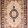 Wool Silk Dining room handmade carpet