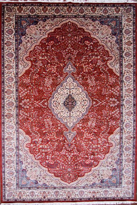 Living room wool-silk carpet