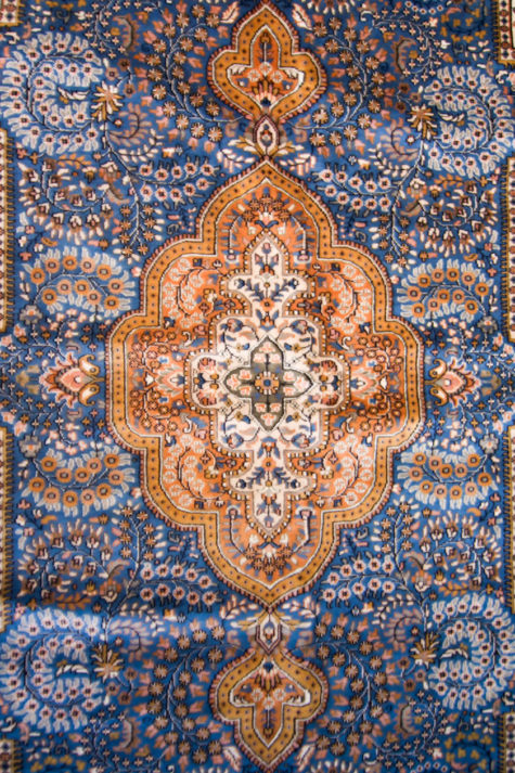 Wool Silk Carpet for Living and Dining Room