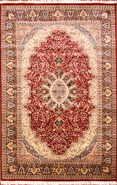 Living room floral design oriental carpet size 10 by 8 from Kashmir