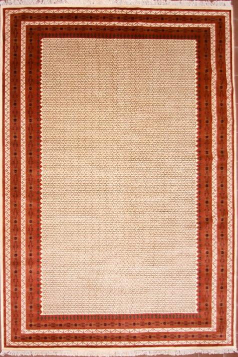 Geometric design dining room rug