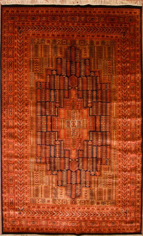 Geometric design pure wool living room carpet