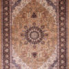 Large living room wool silk rug