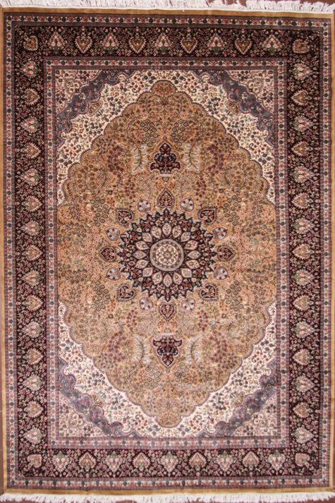Large living room wool silk rug