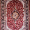 Large red oriental carpet for dining room