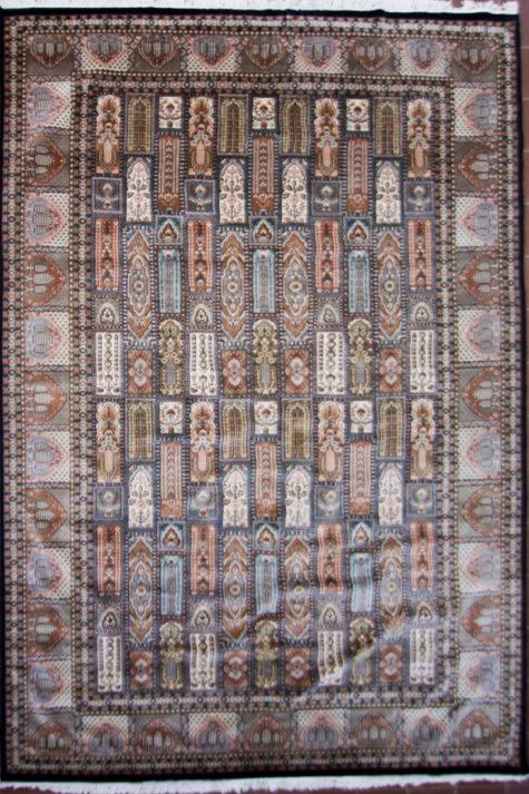 Large wool silk living room carpet