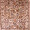 Silk wool dining room oriental rug
