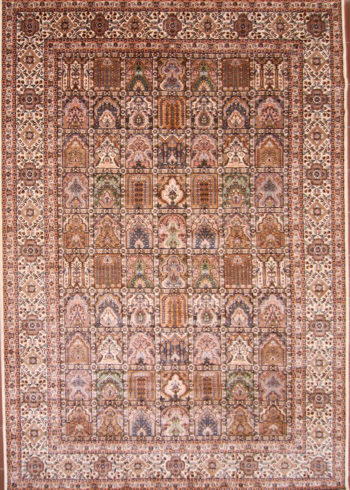 Silk wool dining room oriental rug