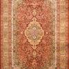 Wool silk living room floral design carpet