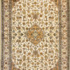 7 by 5 pure silk coffee table rug with oriental design