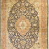 Pure silk coffee table handmade rug