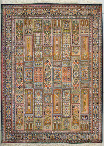 Geometric design pure silk carpet