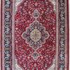 Handmade wool silk coffee table rug