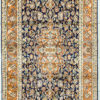 Pure silk bedroom carpet with floral design