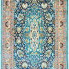 oriental floral design pure silk bedroom rug