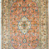 Floral design pure silk foyer carpet size 5 by 3 handmade hand knotted