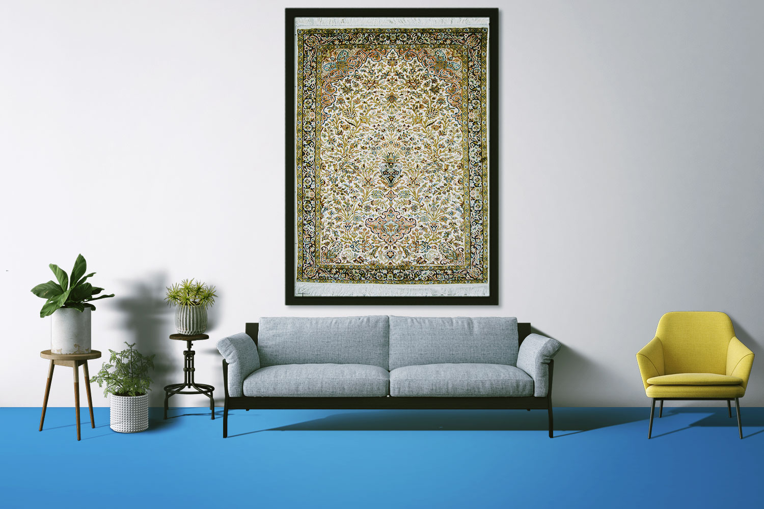Flower Vase Wall Hanging Carpet