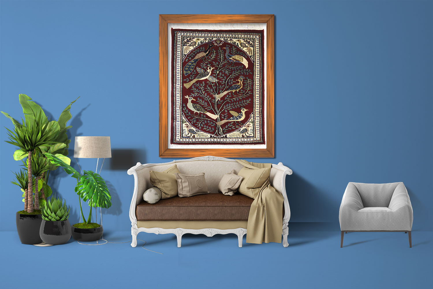Wall hanging oriental carpet