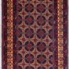 Multi-color hand spun pure wool rug