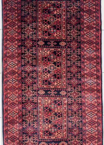 Geometric Design Ter Rug With Afghan Timuri Lineage Motifs