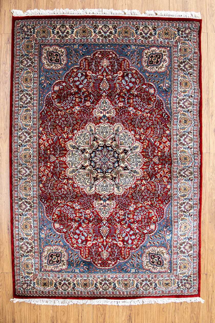 Red Handmade Hand Knotted Coffee Table Rug Handmade Rug And Hand Knotted